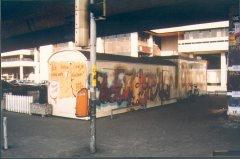 Bauwagen in Graffiti Art im Jahr 1994